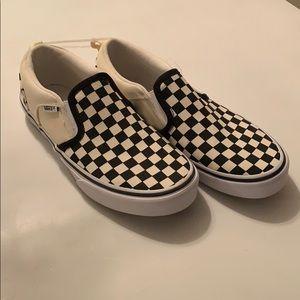 Checkered vans never worn